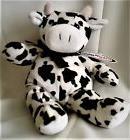 "VINTAGE 2000 MARY MEYER COW ""BELLE"" - STUFFED PLUSH - WHITE"