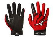 1 Pair Mizuno Vintage Pro G4 Small Red Youth Batting Gloves