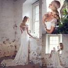Vintage Lace Bridal Gown Wedding Dress Custom Size 2 4 6 8