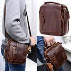 Vintage Men's Leather Handbag Messenger Shoulder Waist Bag
