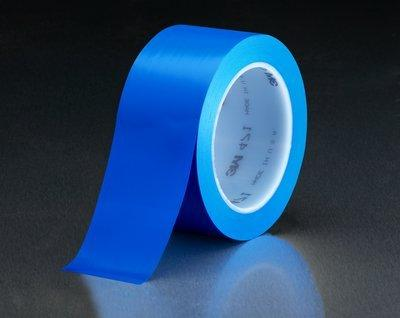 3M Vinyl Tape 471 Blue, 1 in x 36 yd, Conveniently Packaged