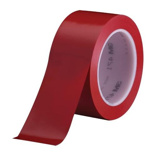 3M Vinyl Tape 471 Red, 1 in x 36 yd, Conveniently Packaged
