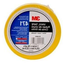 3M Vinyl Tape 471 Yellow, 3 in x 36 yd, Conveniently
