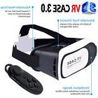Virtual Reality VR CASE Headset 3D Glasses +Remote for