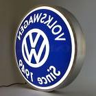 VW sign Volkswagen Opti neon LED dealership wall light  lamp
