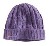 Carhartt WA061 Women's Cable Knit Hat Tulip Pink Heather One