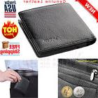 Wallet Black Soft Leather with Zipper Coin Holder Pocket ID