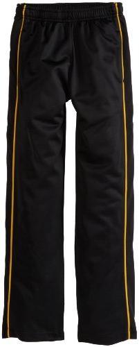 Soffe Big Boys' Warm Up Pant, Black/Gold, Medium