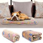 Warm Pet Mat Paw&Bone Print Cat Dog Puppy Flannel Soft