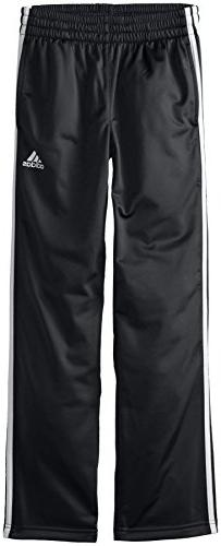 adidas Big Boys' Designator Pant, Black/White, Medium
