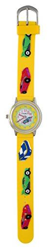 Tomato Kids Watch with 3d Moving Racing Car, Yellow Strap