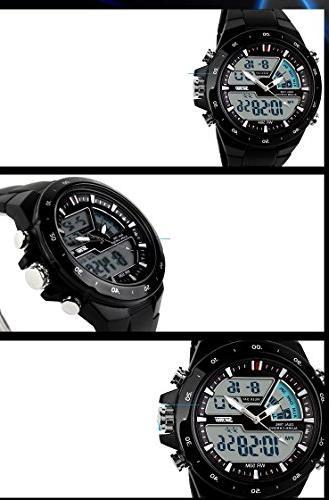 SKMEI Men's Sports Watch Silicone 50M Waterproof dual