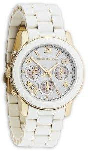 Michael Kors Watches White PU Runway Watch