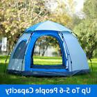 Waterproof 5-6 People Automatic Instant Pop Up Brown Tent