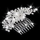 Wedding Party Bride Flower Crystal Rhinestone Hair Comb
