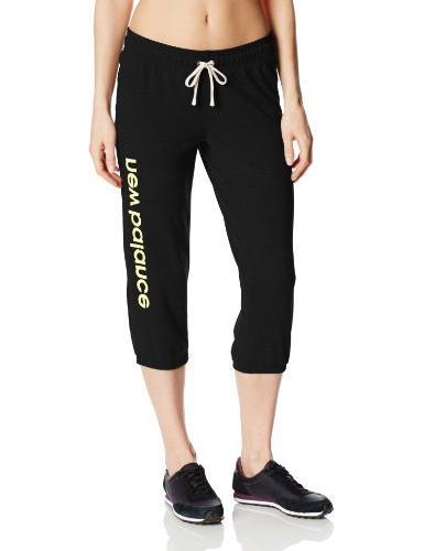 New Balance Women's Weekend Crop Pant, Heather Grey/Sunny