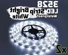 2X WHITE 5M Waterproof 300 LED 3528 SMD Flexible LED Light
