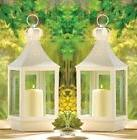 "Large White Wedding Candle Lantern 15 3/4"" tall  Party"