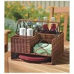 Wicker Tabletop Organizer Natural