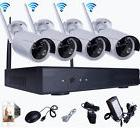 Wireless 8CH NVR 4 x 1500TVL In/Outdoor CCTV WIFI IR-CUT