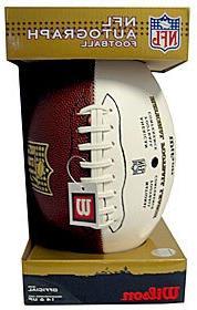Wilson 3-White Panel NFL Football - Goodell