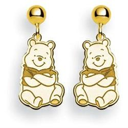Disney Winnie the Pooh Dangle Post Earrings in Gold Plated