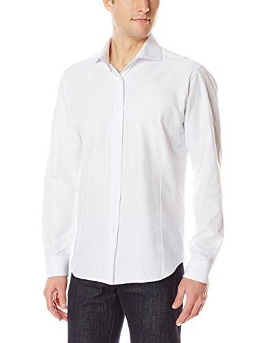 Men's Winston 81 Shirt, White Jacquard, 7