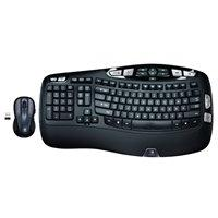 Logitech Wireless Wave Combo Mk550 With Keyboard and Laser