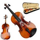 "New 16"" Wood Adult Acoustic Viola with Case Rosin Bow Brown"