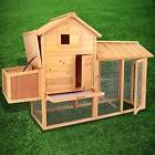 """83"""" Wooden Chicken Coop Hen House Pet Animal Poultry Cage"""