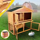 """Wooden 40"""" Poultry Cage Rabbit Hutch Cage Chicken Coop Hen"""