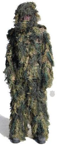 4 Piece Woodland Camo Ghillie Suit