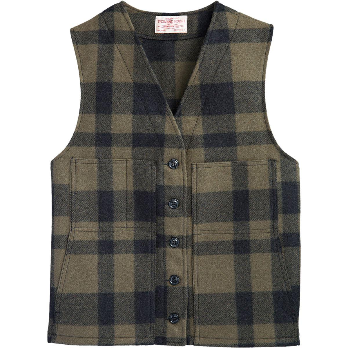 Filson Wool Mackinaw Vest - Men's Forest Green, 38