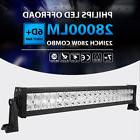 2X 8INCH 36W LED Work Light Bar Spot/Flood Offroad SUV Car