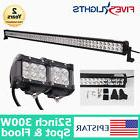 52INCH 300W LED WORK LIGHTS BAR SPOT FLOOD COMBO DRIVING