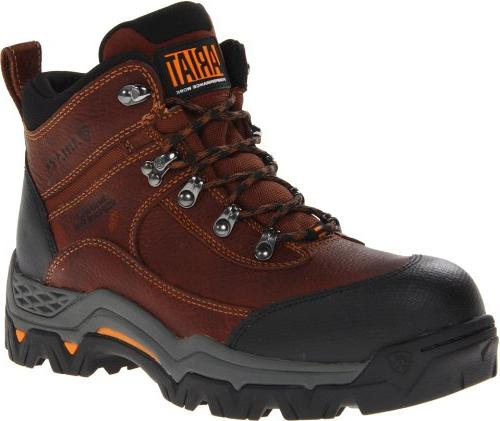 "Ariat Men's Workhog Trek 8"" H2O Composite Toe Work Boot,"