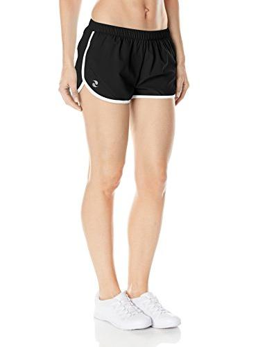 Soffe Women's Woven Mesh Insert Short, Black, X-Large