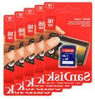 Lot of 10 x SanDisk 16GB SDHC Class 4 SD Flash Memory Card