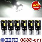 6x Xenon White Canbus T10 6SMD 5630 LED License Plate Light