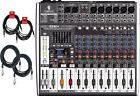 Behringer Xenyx X1222USB Effects Mixing Console Bundle with