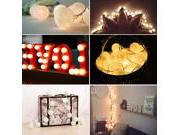 OxyLED Y01 cotton ball LED string lights, white color,warm