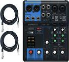 Yamaha MG06 6-Input Stereo Live/Recording Compact Mixer Bundle w/XLR Cables