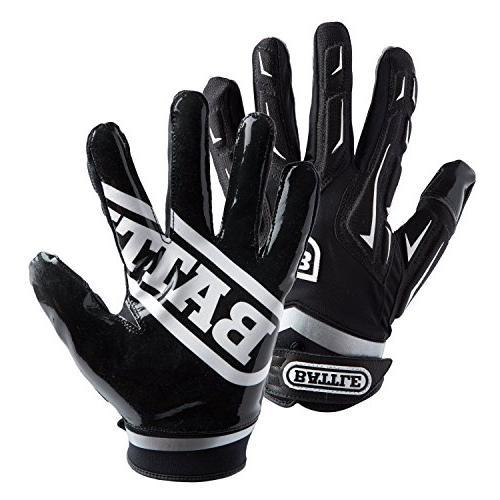 Battle Youth Hybrid Gloves, White, Medium