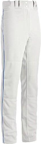 Mizuno Youth Select Pro Piped G2 Pants, White/Royal, XX-