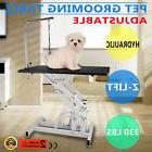 Z-lift Hydraulic Dog Cat Pet Grooming Table Rubber Mat