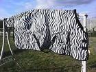 """81"""" zebra 1200 D Tough 1 med/heavyweight waterproof horse"""