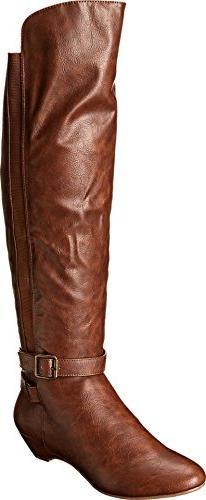 Madden Girl Zilch Tall Boots 7.5 M, Cognac