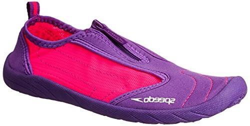 Speedo Women's Zipwalker 3.0 Water Shoe, Purple/Pink, 3 UK/5
